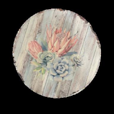 King Protea(light pink) Design Lazy Susan