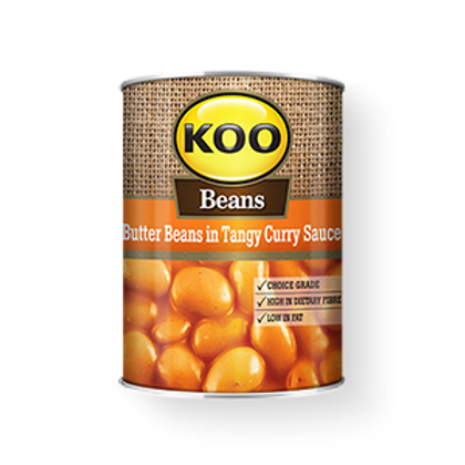 Koo Butterbeans in Tangy Curry Sauce 410g