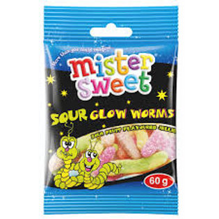 60g Mister Sweet Sour Glow Worms