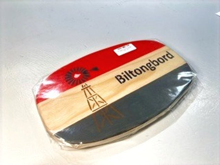 """Decorated Oval Serving Board-""""Biltong"""""""