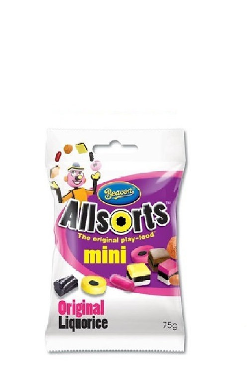 75g Beacon All Sorts Liquorice MIni