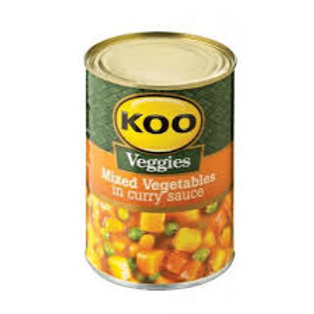 410g Koo Mixed vegetables in curry sauce