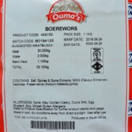 Crown National Ouma Boerewors Spices 1.1kg