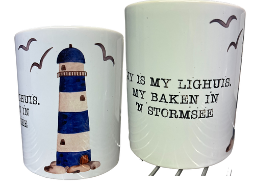 """#17 Coffee Mug with handle  """"Jy is my lighuis...."""""""