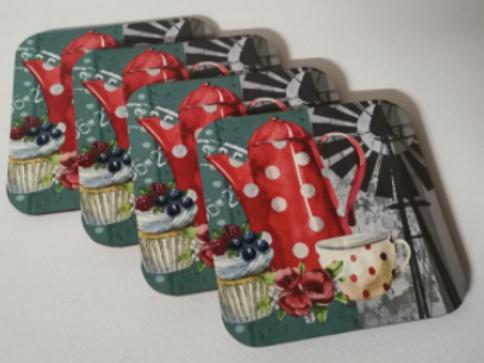 Fynbos Red Kettle Coasters