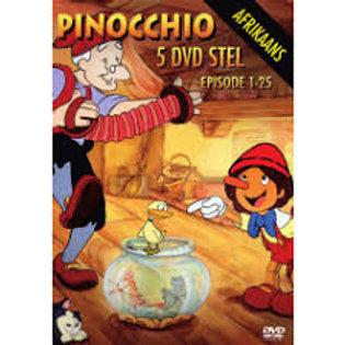 Afrikaans Pinocchio Dvd's Ep 1-25 (1kg)