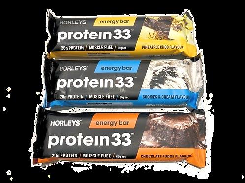 Horleys Protein33 Energy Bars 60g