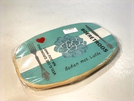 """Decorated Oval Serving Board """"Boeretroos"""""""