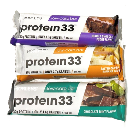 Horleys Protein33 Low Carb Bars 60g