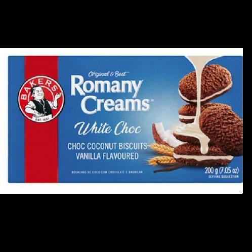 Bakers Romany Creams- White Choc 200g