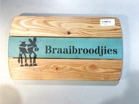 """Braai broodjie"" board (42 x 24cm)"