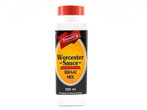 Scalli's Worcester Sauce Braai Mix 500ml