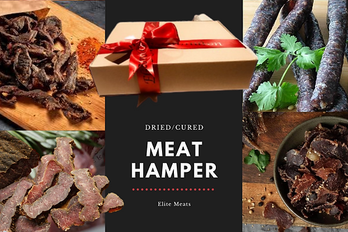 Dried, cured meat Hamper. Choose 1-4 items (Make sure to complete each option)