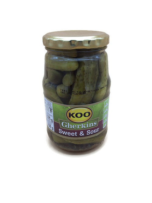 Sweet and Sour Gherkins Koo 375g