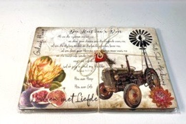 Placemat set of 4 (D) Tractor