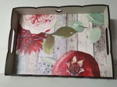 Pomegranate  Design Tray