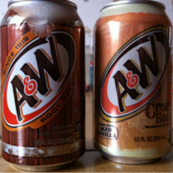 A& W Drinks 355ml