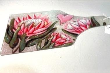Glass Cutting Board Protea