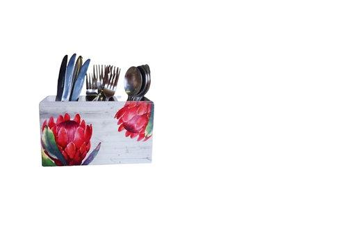 Dark Protea Design -Cutlery Holder