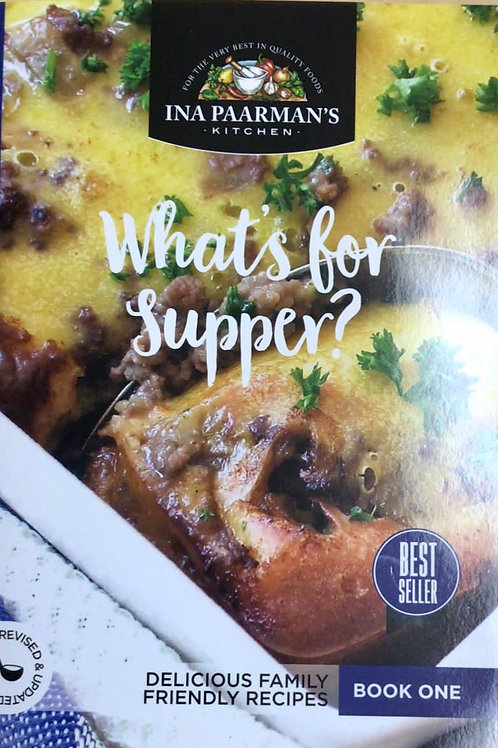 """Ina Paarmans Recipe Book A5 """"What's for Supper"""""""