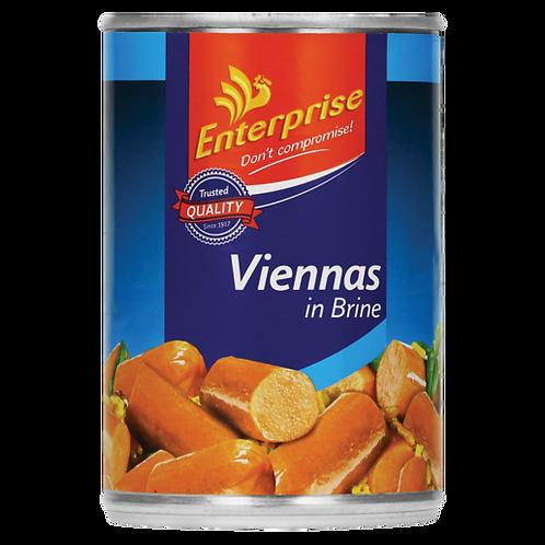 Enterprise Viennas in Brine 390g