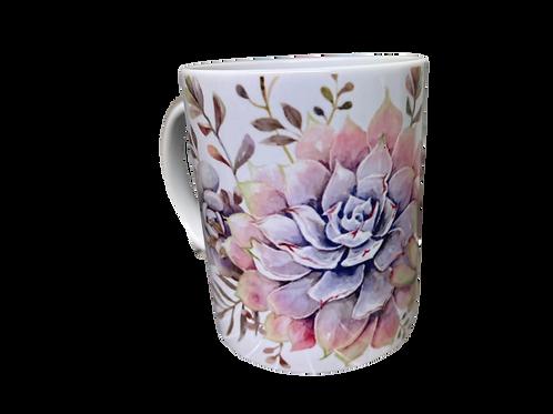 "#32 Coffee Mug Cactus 1 ""Vreugde maak..."""