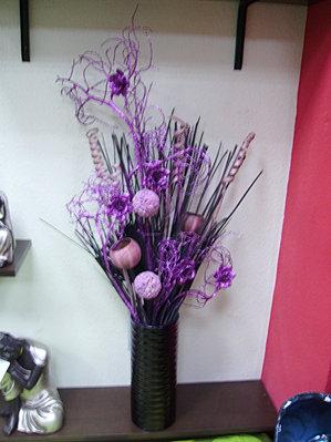 jarrn con flores secas