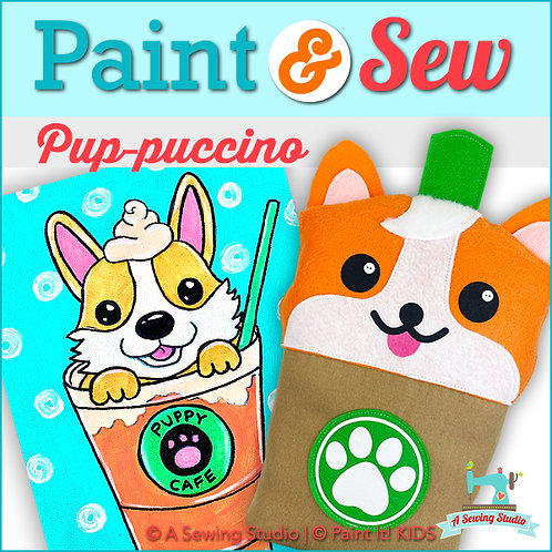 NEW!  Pup-ppuccino, July 28 (1 day), 1-4pm, 3 total hours