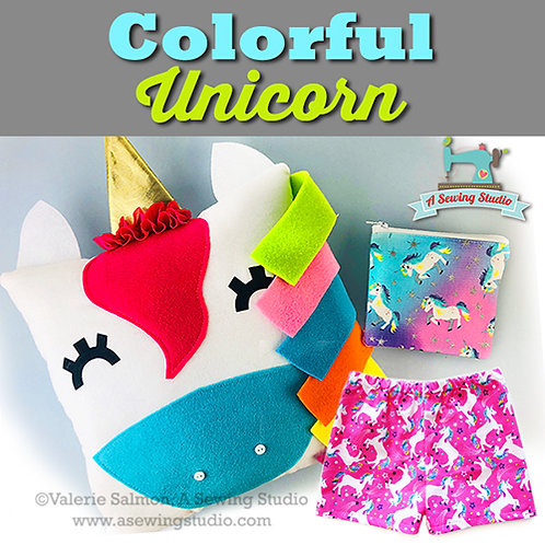 Colorful Unicorn, July 15 & 16 (2 days), 10a-12:30p, 5 total hours