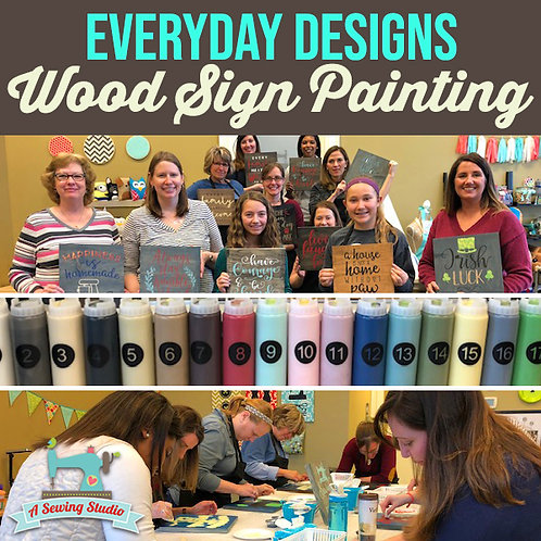 Everyday Designs Wood Sign Painting, 12/14, 7pm