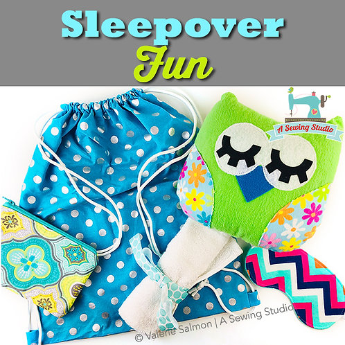 Sleepover/Travel Fun, June 28 & 29 (2 days), 10a-12:30p, 5 hrs   {All Sewing}