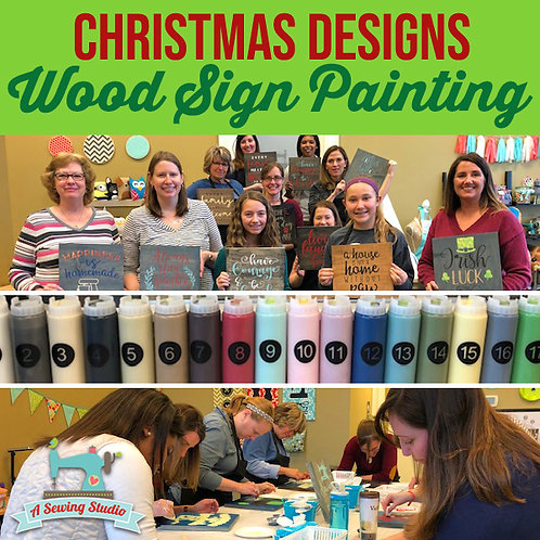Christmas Wood Sign Painting, 12/14, 7pm