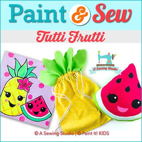 Tutti Frutti, July 6 & 7 (2 days), 10a-12:30p, 5 total hours