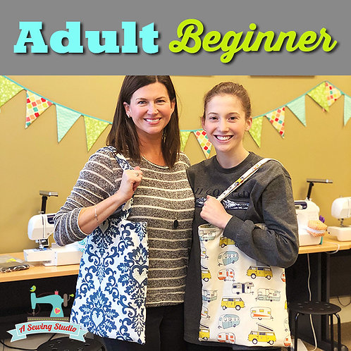 Adult Beginner Tote Class, March 7, 1:00-3:30pm