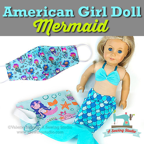 AG Doll Mermaid, July 22, 9:30a-12p, 2.5 hrs. {All Sewing}