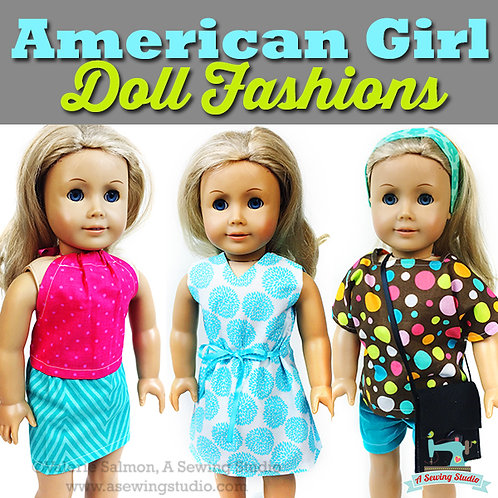AG Doll Fashions, July 19, 20, 21 (3 days), 9:30a-12p, 7.5 hrs {All Sewing}