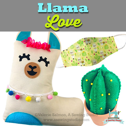 Llama Love, June 23, 9:30a-12p (2.5 hours)  {All Sewing}