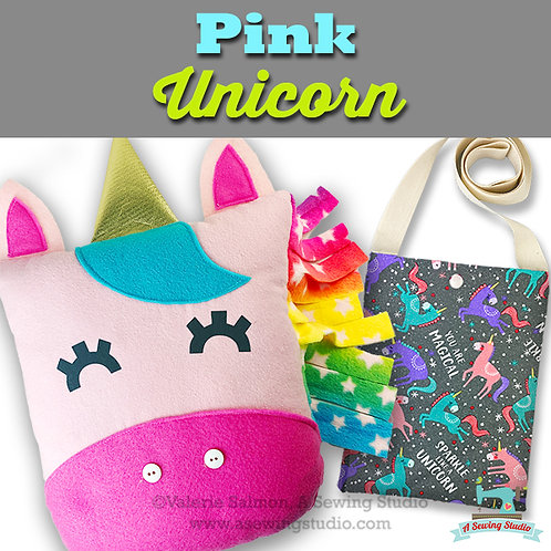 Pink Unicorn, June 24, 9:30a-12p (2.5 hours)  {All Sewing}