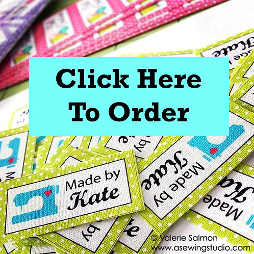 75 Iron-On Custom Labels for Sewing