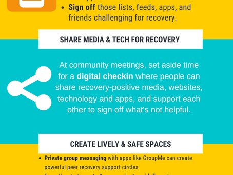 Best Practices for Creating a Healthy Digital Lifestyle in  Recovery Community