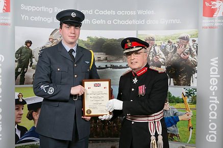 CWO Parry T recieving Lord Lieutenants cadet