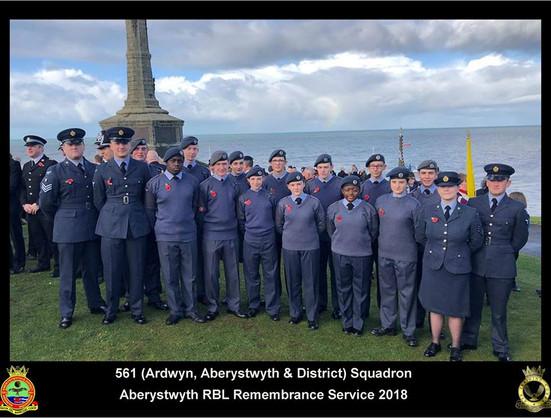 Rememberance Sunday Parade - Aberystwyth
