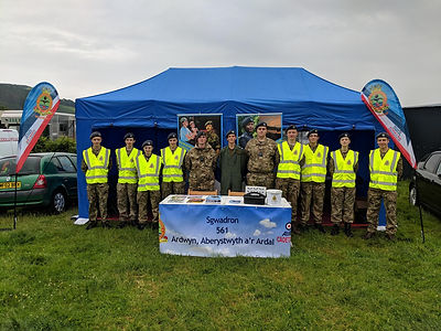 Cadets marshaling at Aberystwyth show