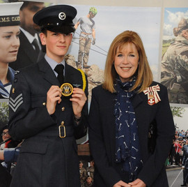 Fs Lloyd-Jones recieving Lord Lieutenants Cadet Award