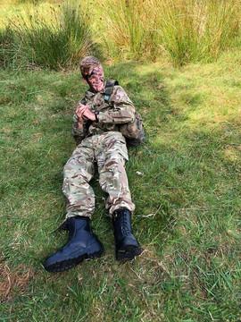 Cadet on a fieldcraft weekend