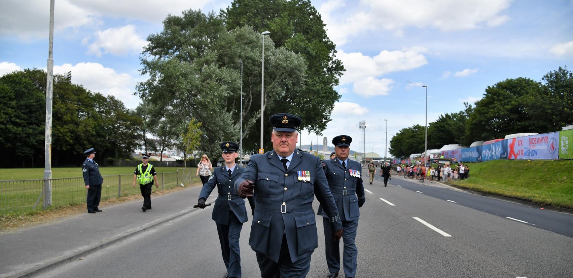 Wg Cdr Mike Stones - Swansea parade.jpg