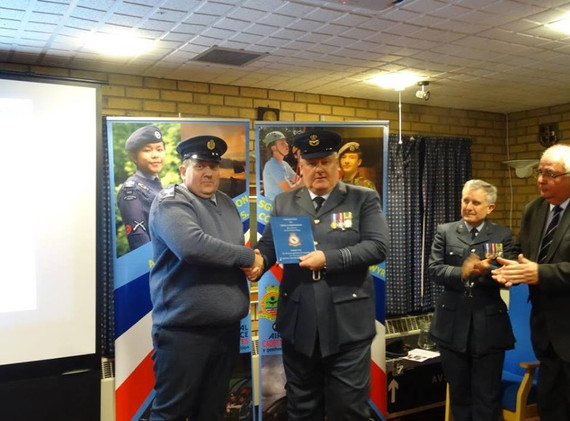 Presentation Evening - Sgt Parry & Wing