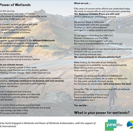 World Wetlands Day 2021 - an ode to the #PowerOfWetlands