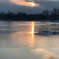 Winter Sunset Color Over Twin Lakes