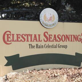 Celestial Seasonings Welcome Sign, January 2021
